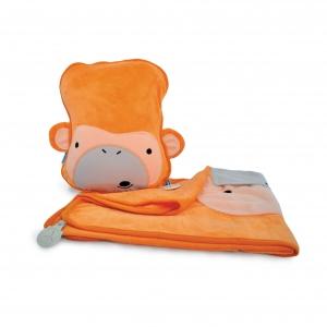 Набор подушка с пледом Обезьянка и подголовник