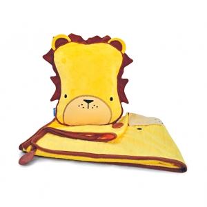 Набор подушка с пледом Лев и подголовник