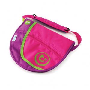 Сумка-седло на чемодан, розовая