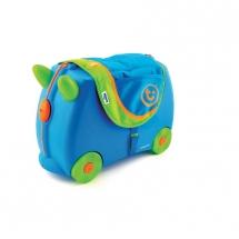 Сумка-седло на чемодан, голубая