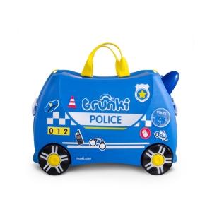 Чемодан на колёсиках Полицейская машина Перси